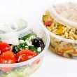 Stock Photo: Prepared salads in takeout containers