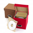 Media storage boxes — Stock Photo