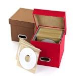 Media storage boxes — Stock Photo