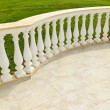 Patio with railing — Stock Photo