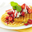 Belgian waffles — Stock Photo #7612132