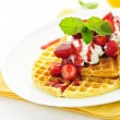 Belgian waffles — Stock Photo #7612142