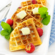 Belgian waffles — Stock Photo #7612156