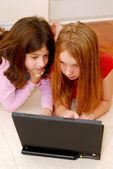 Computador meninas — Foto Stock
