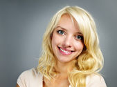 Young smiling woman portrait — Stock Photo