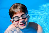 Boy child pool — Stock Photo