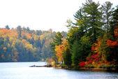 озеро осенью — Стоковое фото