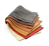 Leather samples — Stockfoto