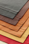 Leather upholstery samples — Stock Photo