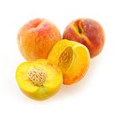 Peaches isolated on white — Stock Photo