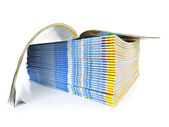 Stack of magazines — Stock Photo