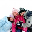Children playing in snow — Stock Photo #7631940