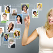 Stockfoto: Social networking