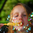Young girl soap bubbles — Stock Photo #7638475