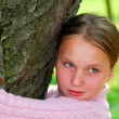Royalty-Free Stock Photo: Girl and big tree