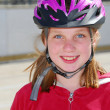 Stock Photo: Girl child helmet
