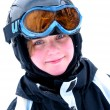 Girl ski smile — Stock Photo