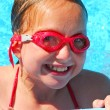 Stock Photo: Girl portrait pool
