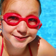 Girl child pool — Stock Photo