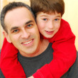 Father son portrait — Stock Photo