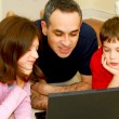 Royalty-Free Stock Photo: Family computer