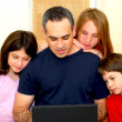 Family computer — Stock Photo