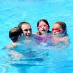 Family fun pool — Stock Photo