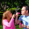 Family summer bubbles — Stock Photo #7639213