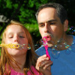 Family summer bubbles — Stock Photo #7639217