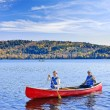 Stock Photo: Family canoe trip
