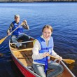 Family canoe trip — Stock Photo #7639230