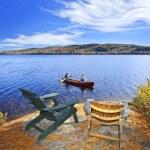 Canoeing on lake — Stock Photo #7639237