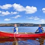 Family canoe trip — Stock Photo #7639247