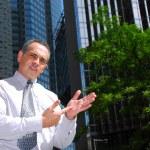 Businessman explain — Stock Photo