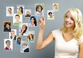 Social-networking — Stockfoto