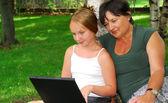 Komputer z rodziny — Zdjęcie stockowe