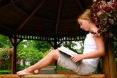 Girl read book — Stock Photo
