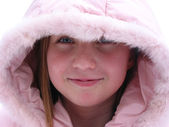 Winter Cutie - portrait of a young girl — Stock Photo