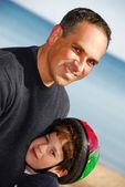 Otec syna portrét — Stock fotografie