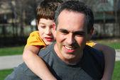 Otec syna rodina — Stock fotografie