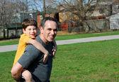 Pai e filho — Foto Stock