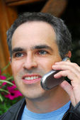 Teléfono hombre — Foto de Stock