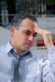 Uomo d'affari infelici — Foto Stock