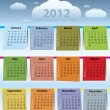 Stock Vector: colorful calendar for 2012