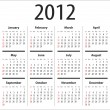 Calendar for 2012 — Stockvectorbeeld