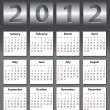 Stylish calendar for 2012 — Stock Vector