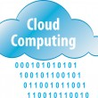 Cloud computing abstract iilustration - Stock Vector