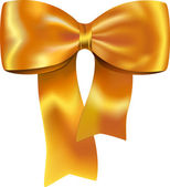Golden gift bow — Vector de stock