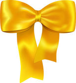 Yellow gift bow — Stock Vector