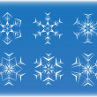Stock Vector: Snowflake different styles